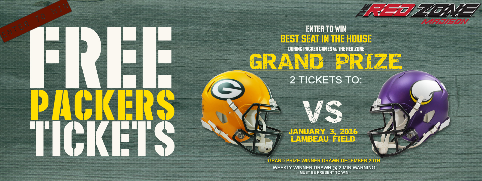 Best Seat In the House | Free Packers Tickets | Red Zone Madison